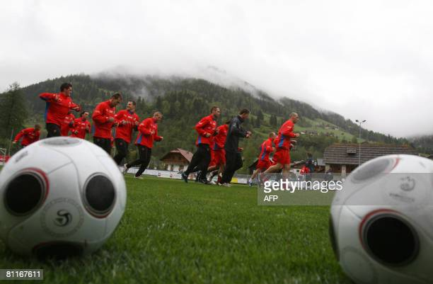 Czech Republic team trains on May 20 2008 in Bad Kleinkirchheim The Czech Republic squad arrived to their Euro 2008 preparation camp in Bad...