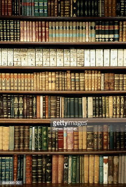 Czech Republic, West Bohemia, Tepla Monastery library bookshelves