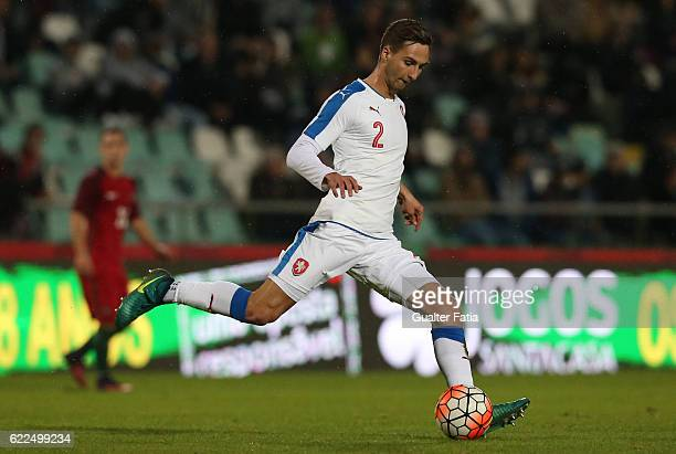Czech Republic's defender Stefan Simic in action during U21 Friendly match between Portugal and Czech Republic at Estadio do Bonfim on November 11...