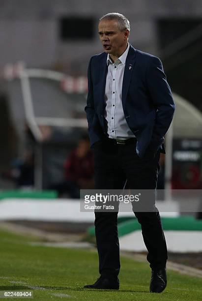 Czech RepublicÕs head coach Vitezslav Lavicka in action during U21 Friendly match between Portugal and Czech Republic at Estadio do Bonfim on...