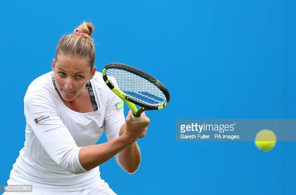 Czech Republic's Kristyna Pliskova in action against Germany's Angelique Kerber during day six of the AEGON International at Devonshire Park...