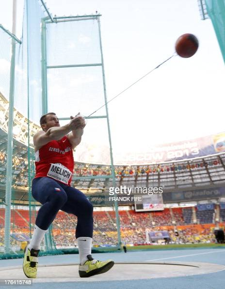 Czech Republic's Lukas Melich competes in the men's hammer ...
