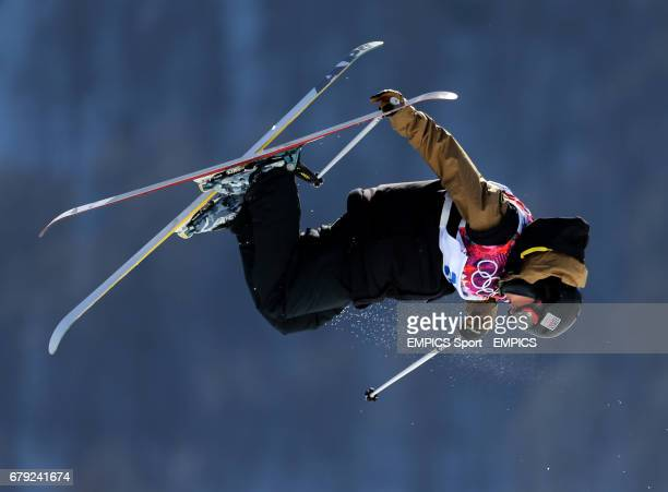Czech Republic's Marek Skala during Ski Slopestyle training at the Rosa Khutor Extreme Park during the 2014 Sochi Olympic Games in Krasnaya Polyana...