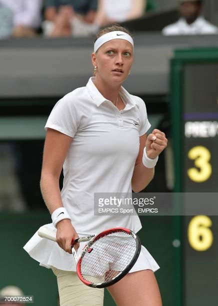 Czech Republic's Petra Kvitova celebrates against Canada's Eugenie Bouchard in their Ladies' Singles Final