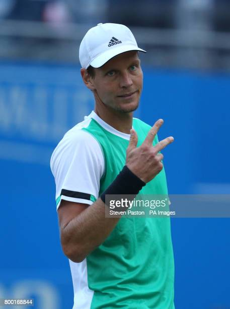 Czech Republic's Tomas Berdych during day five of the 2017 AEGON Championships at The Queen's Club London