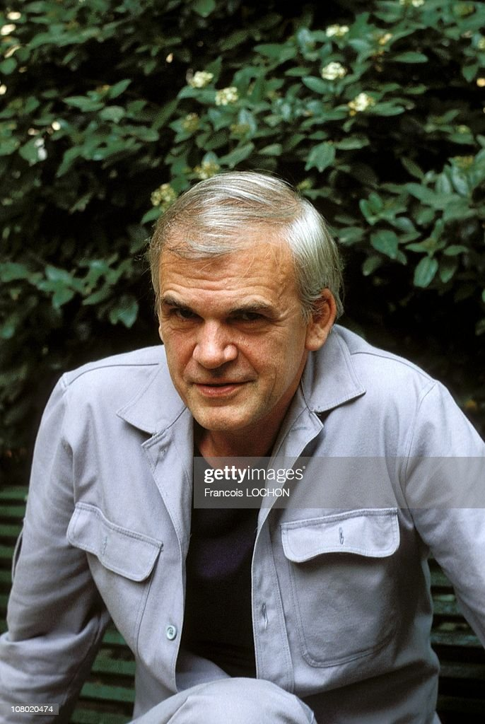 Czech Writer <a gi-track='captionPersonalityLinkClicked' href=/galleries/search?phrase=Milan+Kundera&family=editorial&specificpeople=724896 ng-click='$event.stopPropagation()'>Milan Kundera</a> poses during a portrait session on August 2,1984 in Paris,France.