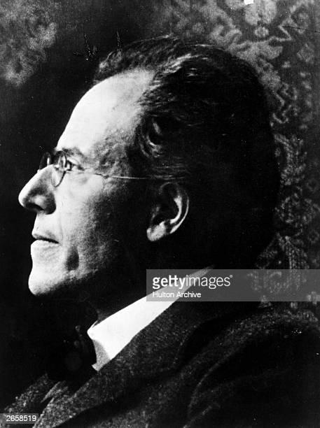 Czechoslovakian born Austrian composer Gustav Mahler