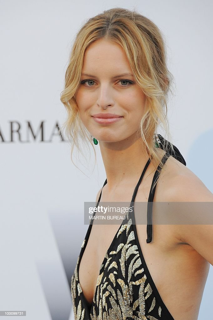 Czech's model Karolina Kurkova arrives at amfAR's Cinema Against Aids 2010 benefit gala on May 20, 2010 in Antibes, southeastern France.