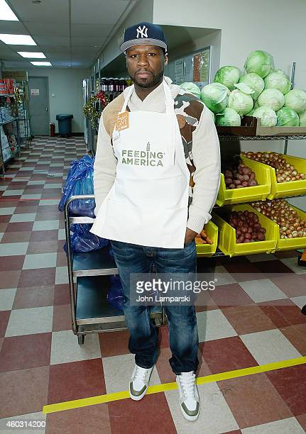 d 50 Cent/ Curtis Jackson attends 2014 Feeding America And Food Bank For New York City A Hope For The Holidays Volunteer Event at Food Bank for New...