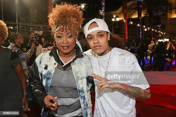 Da Brat and Siya attend 2014 Soul Train Music Awards on November 7 2014 in Las Vegas Nevada