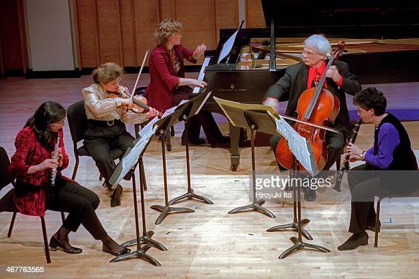 Da Capo Chamber Players performing at Merkin Concert Hall on Tuesday night January 22 2002This imageFrom left Patricia Spencer Renee Jolles Lisa...