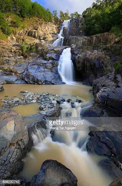 Da Khai waterfall, about 1 km high falling from the top of mountain