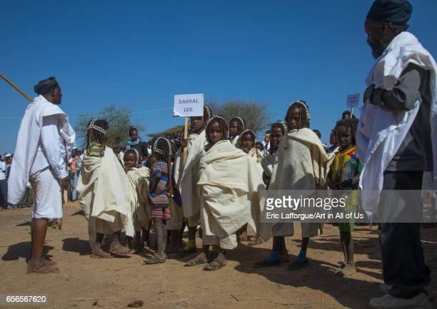 Dabale age grade boys during the Gada system ceremony in Borana tribe Oromia Yabelo Ethiopia on March 7 2017 in Yabelo Ethiopia