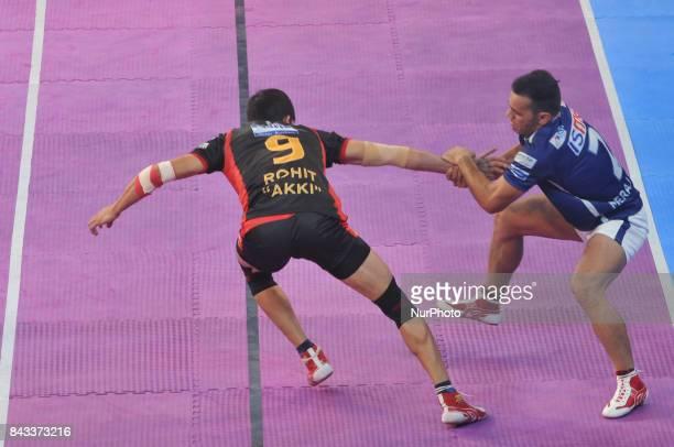 Dabang Delhi vs Bengaluru Bulls at the Pro Kabaddi on September 062017 in Kolkata Netaji Indoor StadiumPhoto by Debajyoti ChakrabortyKolkataIndia...