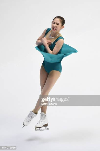 Dabin Choi of Korea competes in the women's short program figure skating on day six of the 2017 Sapporo Asian Winter Games at Makomanai Indoor...