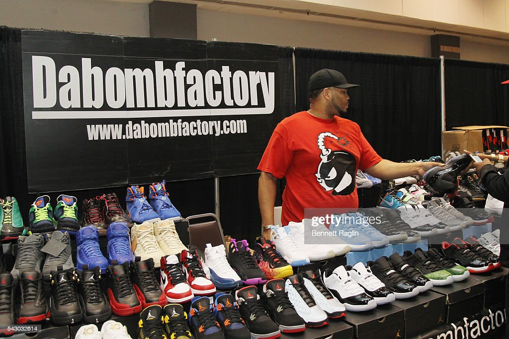 Dabombfactory products are displayed at SneakerCon presented by Sprite, Rush Card, & FDA during the 2016 BET Experience at Los Angeles Convention Center on June 25, 2016 in Los Angeles, California.