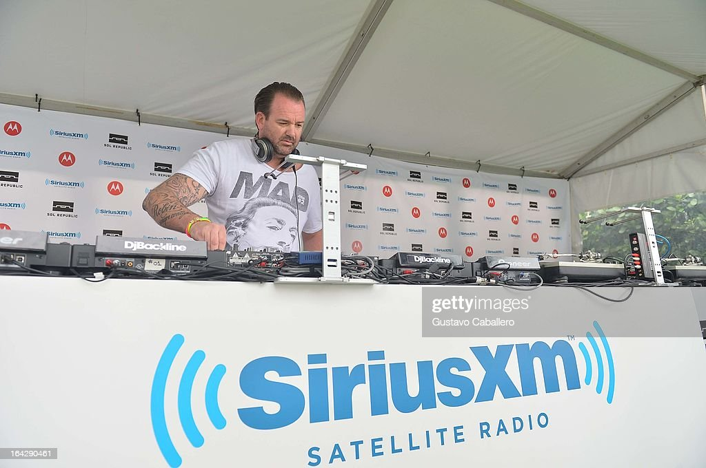 Dabruck performs live on SiriusXM's 'UMF Radio' at the SiriusXM Music Lounge at W Hotel on March 22, 2013 in Miami, Florida.