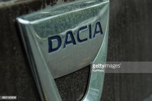 A Dacia logo is seen on a car in Bydgoszcz Poland on 19 October 2017