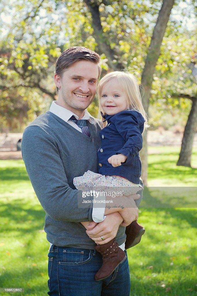 Dad and little girl : Stock Photo