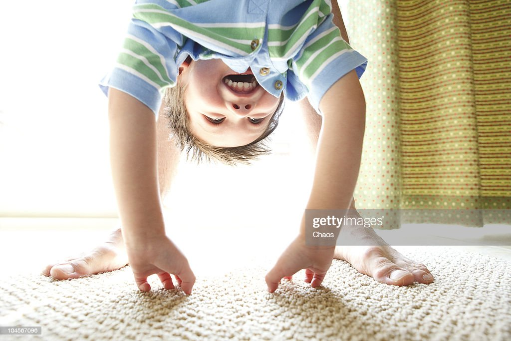 Dad and Son playing in the sun : Stock Photo