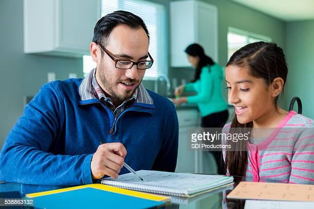 Dad homeschools pre-teen daughter