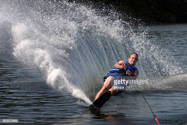 Vater-Skifahren