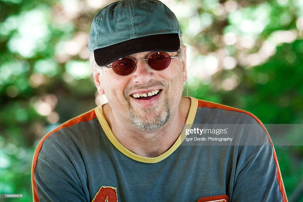 Dad smiling : Stock Photo