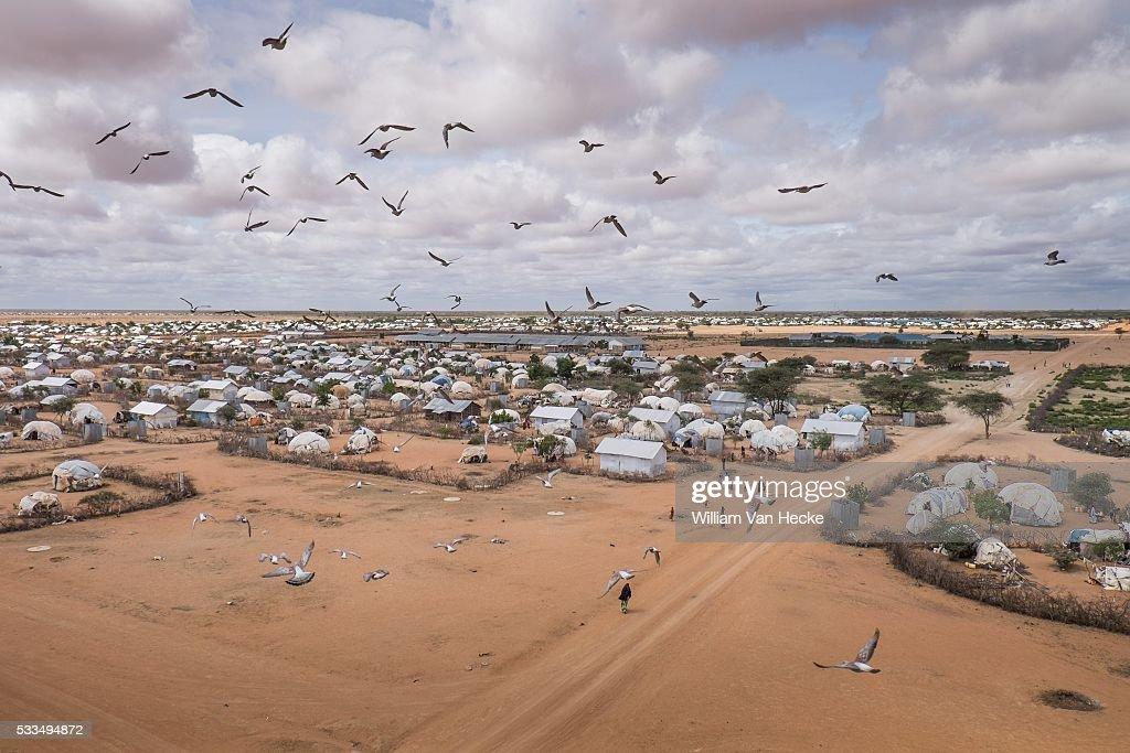 Dadaab Kenia Visit to Dadaab refugee camp in Kenia In picture panoramic view over Dadaab refugee camp