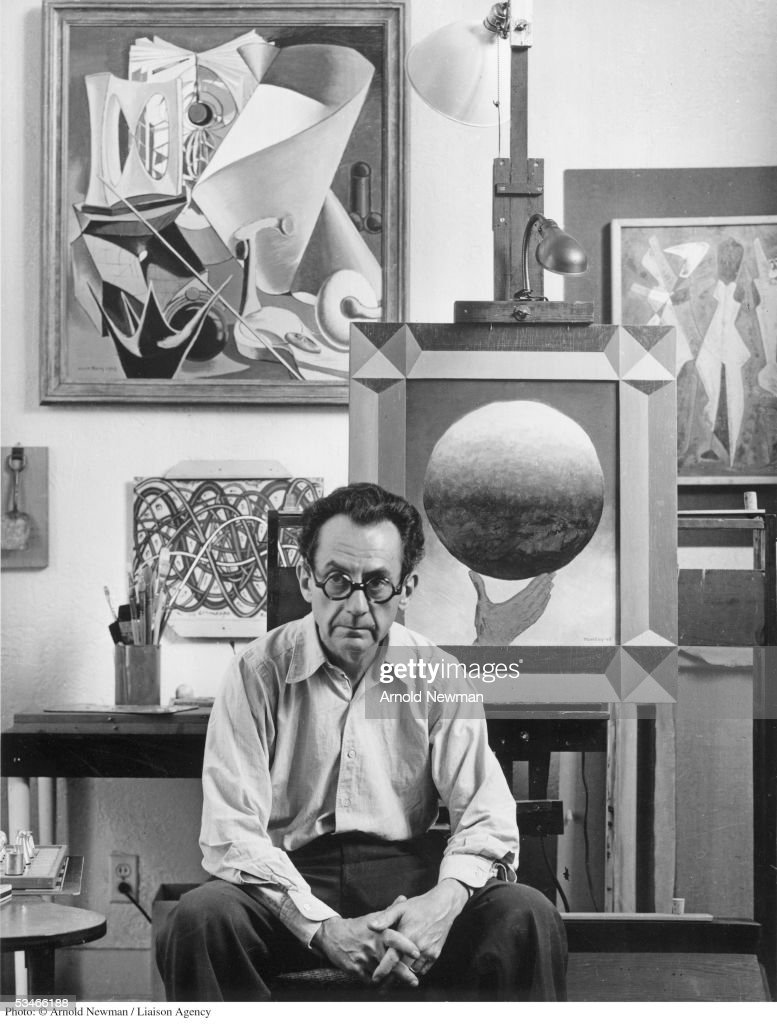 Dadaist artist <a gi-track='captionPersonalityLinkClicked' href=/galleries/search?phrase=Man+Ray&family=editorial&specificpeople=13641952 ng-click='$event.stopPropagation()'>Man Ray</a> poses for portrait June 13, 1948 in Los Angeles, California.