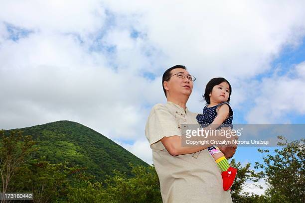 Daddy and baby at Nikko