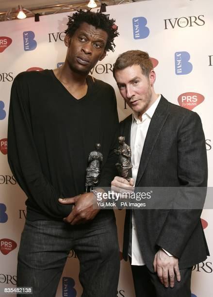 Daddy G and Robert Del Naja of Massive Attack with the Contribution To British Music Award at the 54th Ivor Novello Awards at the Grosvenor House...