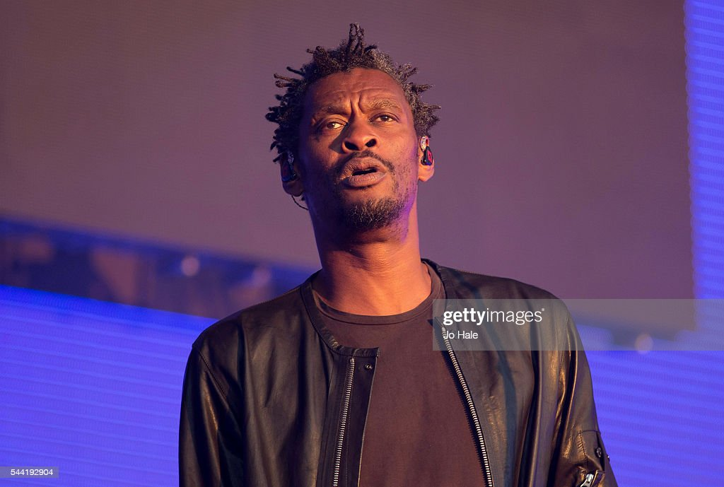 Daddy G performs on stage with Massive Attack as part of the Barclaycard Presents British Summer Time Hyde Park: Day 1 at Hyde Park on July 1, 2016 in London, England.