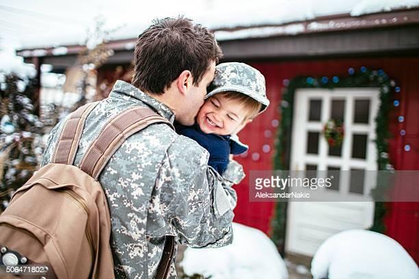 Daddy soldier's back para Navidad