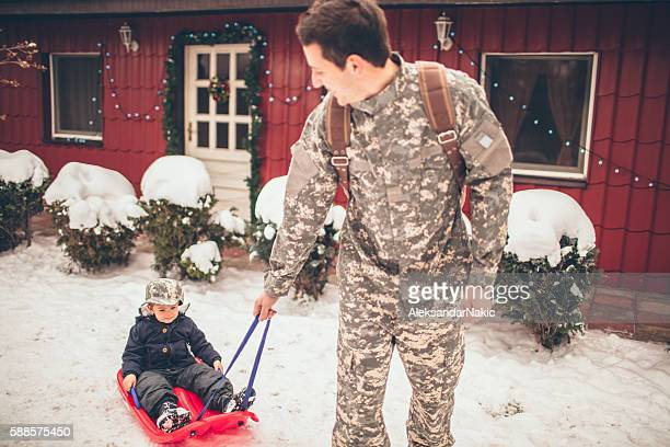 Daddy soldier's back for Christmas