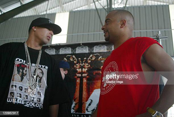 Daddy Yankee and director Jessy Terrero during Daddy Yankee and Snoop Dogg Press Conference and Video Shoot For 'Gangsta Zone' January 27 2006 at...