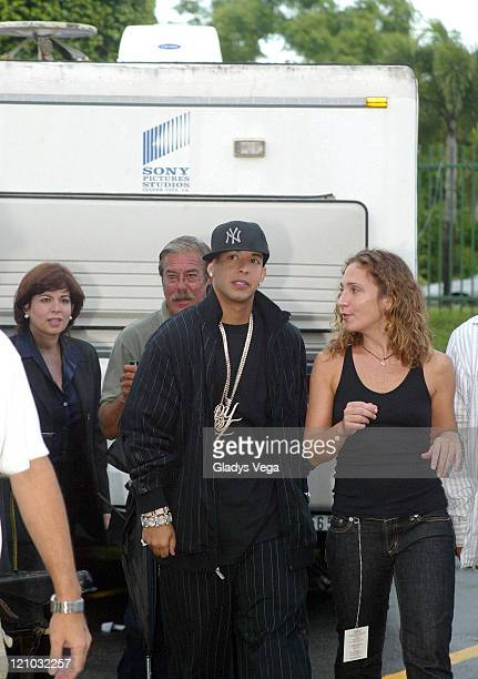 Daddy Yankee and Director Paloma Suau during Daddy Yankee Taping His Spot on 'Queridos Reyes Magos' Banco Popular Christmas TV Special at Quijote...
