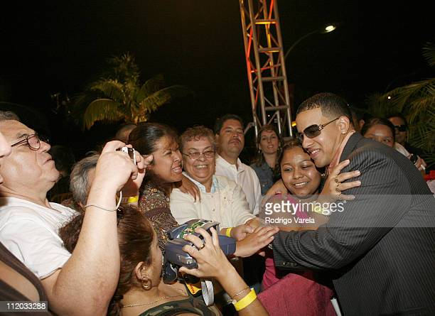 Daddy Yankee during 2006 Premio Lo Nuestro Red Carpet Arrivals at American Airlines Arena in Miami Florida United States