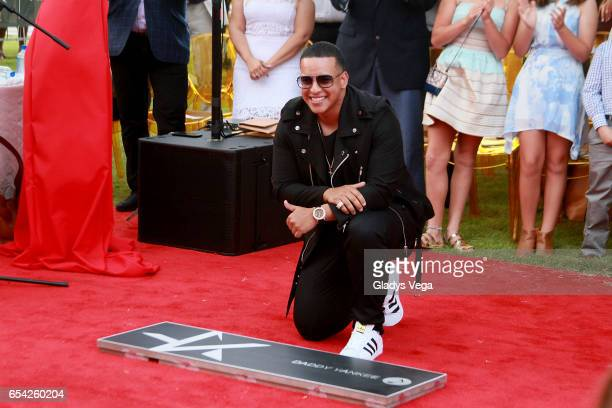 Daddy Yankee is honored with a star in Paseo de la Fama on March 16 2017 in San Juan Puerto Rico