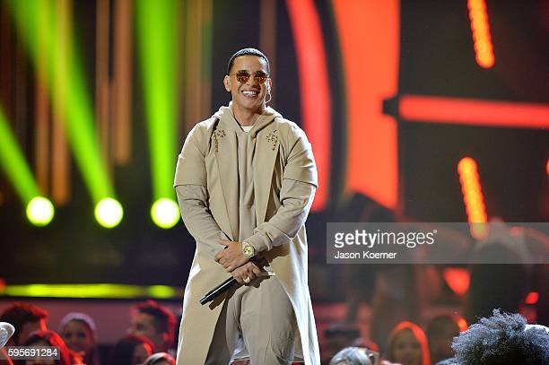 Daddy Yankee onstage at Telemundo's Premios Tu Mundo 'Your World' Awards at American Airlines Arena on August 25 2016 in Miami Florida