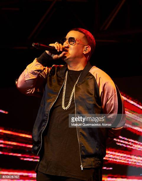 Daddy Yankee performs on stage at Coliseum on July 6 2017 in A Coruna Spain