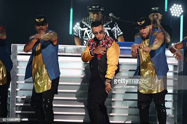 Daddy Yankee performs on stage at iHeartRadio Fiesta Latina at American Airlines Arena on November 5 2016 in Miami Florida