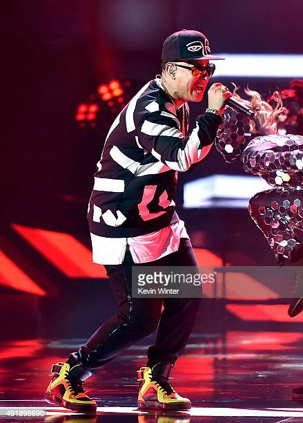 Daddy Yankee performs onstage during Telemundo's Latin American Music Awards at the Dolby Theatre on October 8 2015 in Hollywood California