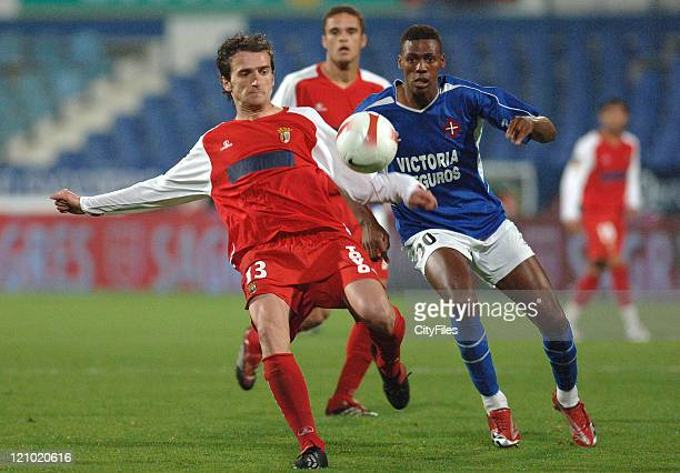 Dady and Carlos Fernandes during the Portuguese Cup SemiFinal match between Belenenses and Braga on April 19 2007