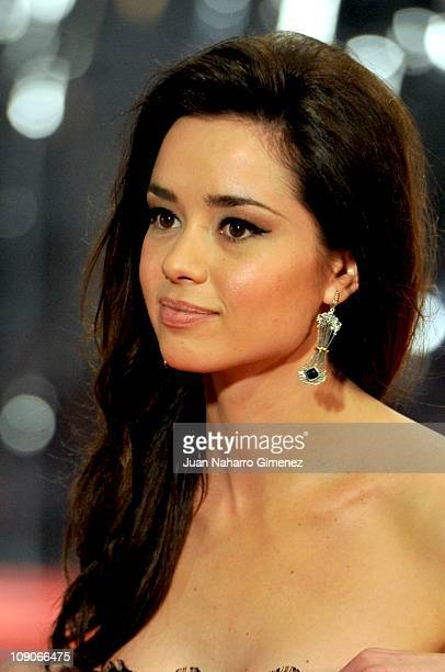 Dafne Fernandez arrives to the 2011 edition of the 'Goya Cinema Awards' ceremony at Teatro Real on February 13 2011 in Madrid Spain