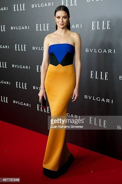 Dafne Fernandez attends 'Elle Style Awards 2014' photocall at Italian Embassy on October 23 2014 in Madrid Spain