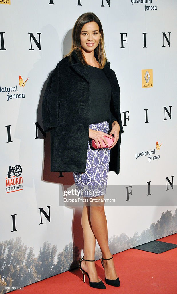 Dafne Fernandez attends 'Fin' premiere on November 20, 2012 in Madrid, Spain.
