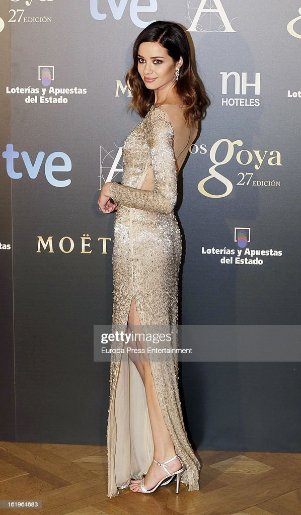 <a gi-track='captionPersonalityLinkClicked' href=/galleries/search?phrase=Dafne+Fernandez&family=editorial&specificpeople=2142321 ng-click='$event.stopPropagation()'>Dafne Fernandez</a> attends the official 'Goya Cinema Awards After Party' 2013 at Casino de Madrid on February 17, 2013 in Madrid, Spain.