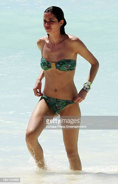Dafne Fernandez is seen on the beach on February 23 2013 in Punta Cana Dominican Republic