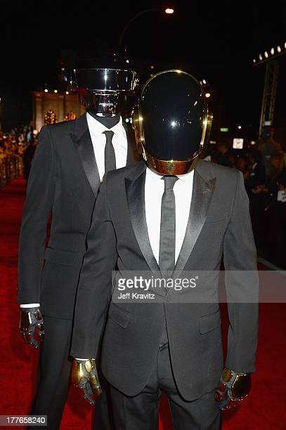 Daft Punk attends the 2013 MTV Video Music Awards at the Barclays Center on August 25 2013 in the Brooklyn borough of New York City