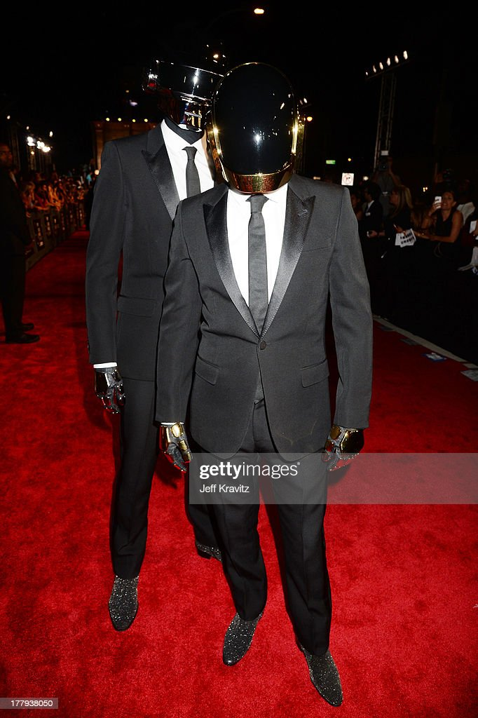 Daft Punk attends the 2013 MTV Video Music Awards at the Barclays Center on August 25, 2013 in the Brooklyn borough of New York City.